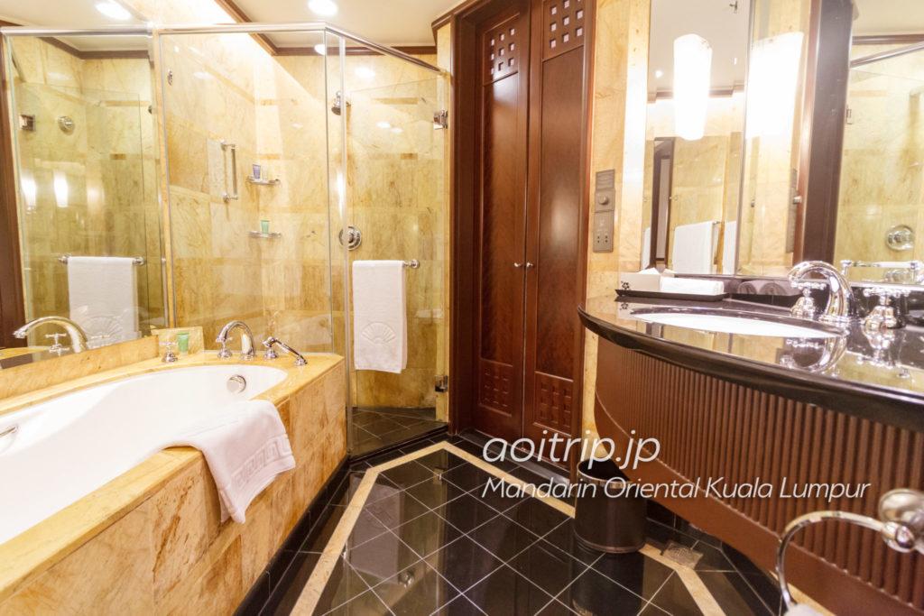 マンダリンオリエンタルクアラルンプール バスルーム