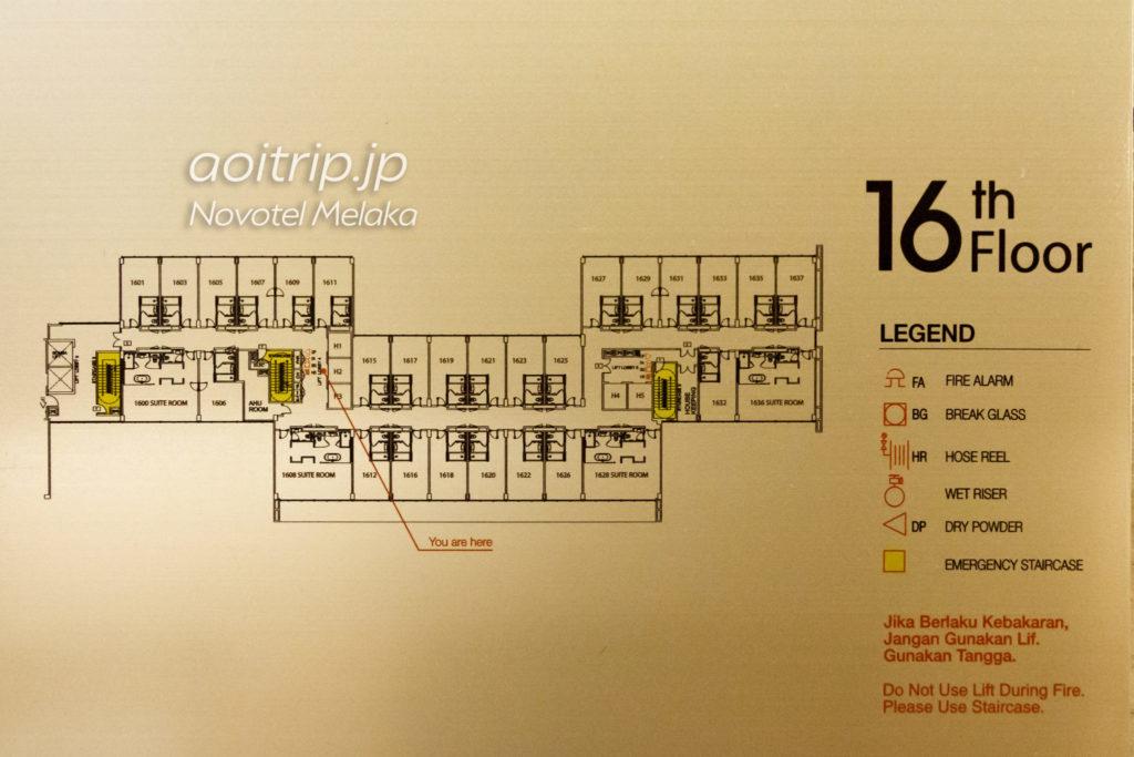 Novotel Melaka Floor Map