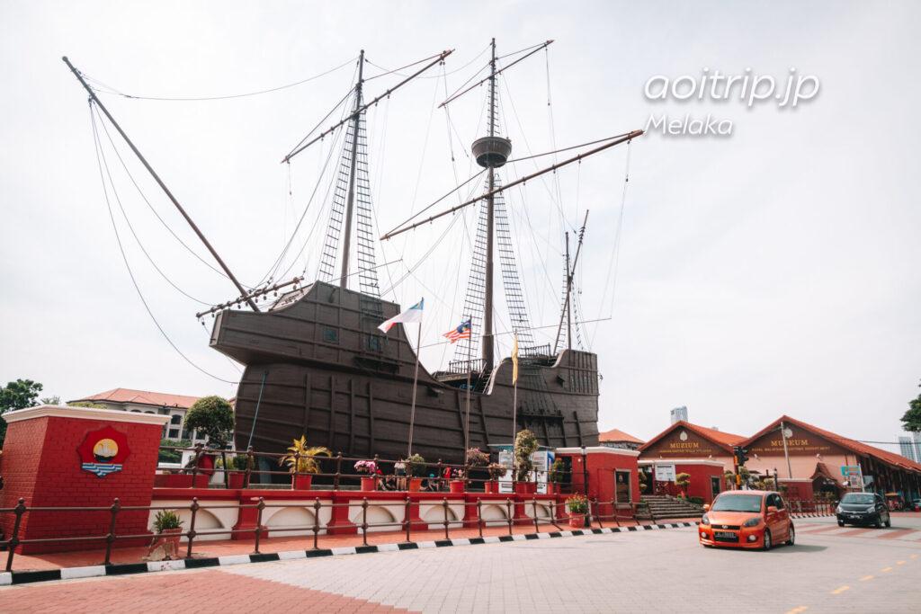 マラッカ 海の博物館の船
