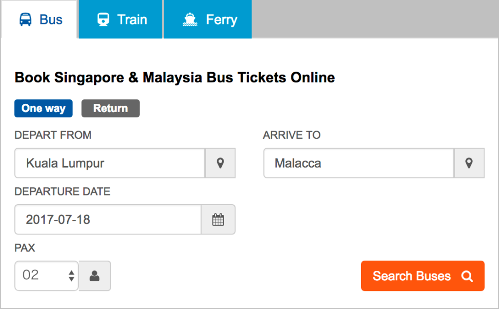 busonlineticket.com チケット購入方法