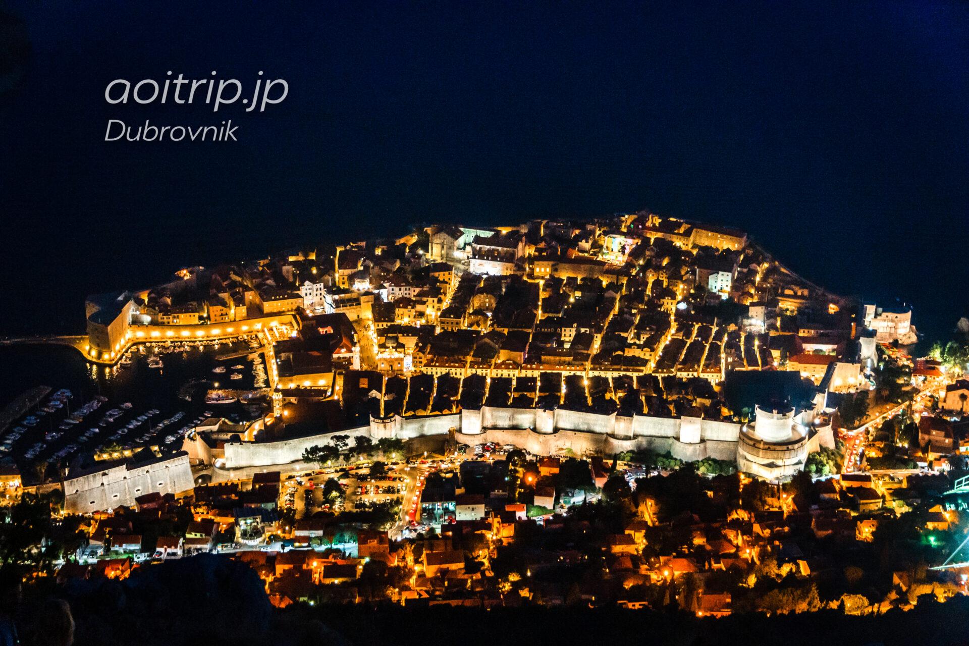 ドゥブロヴニク スルジ山からの夜景