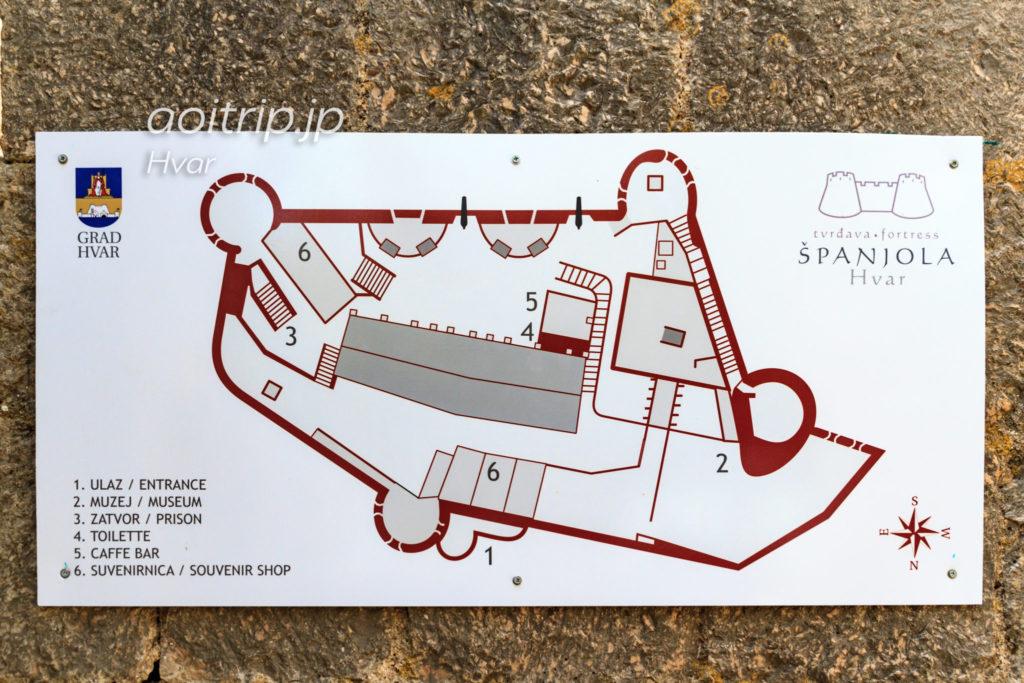 フヴァル城塞のマップ