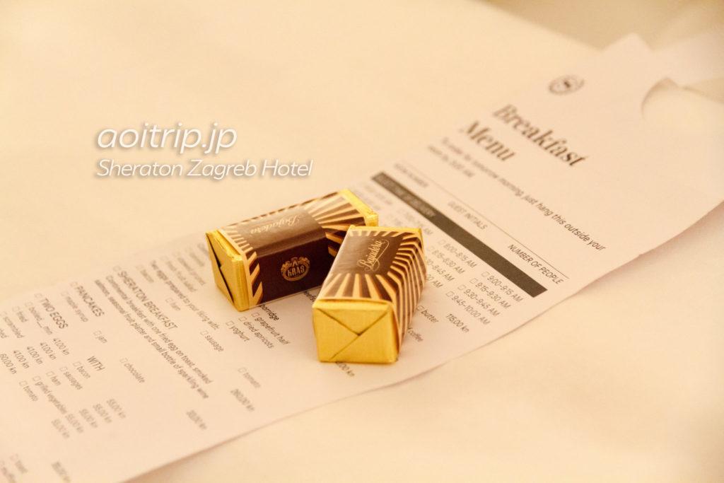 シェラトンザグレブ ウェルカムチョコレート