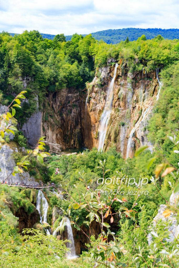 プリトヴィツェ湖群国立公園 ヴェリキ滝