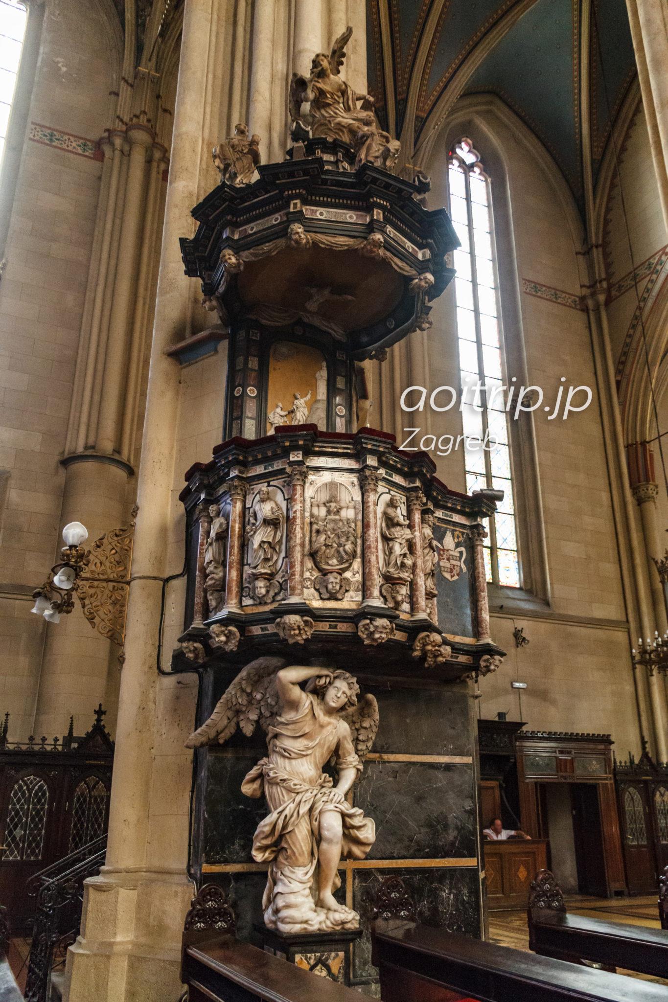 ザグレブ大聖堂 バロック様式の説教壇