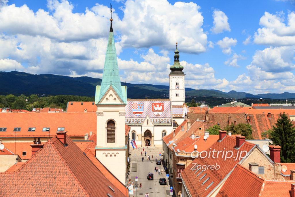 ロトゥルシュチャク塔から聖マルコ教会の眺望