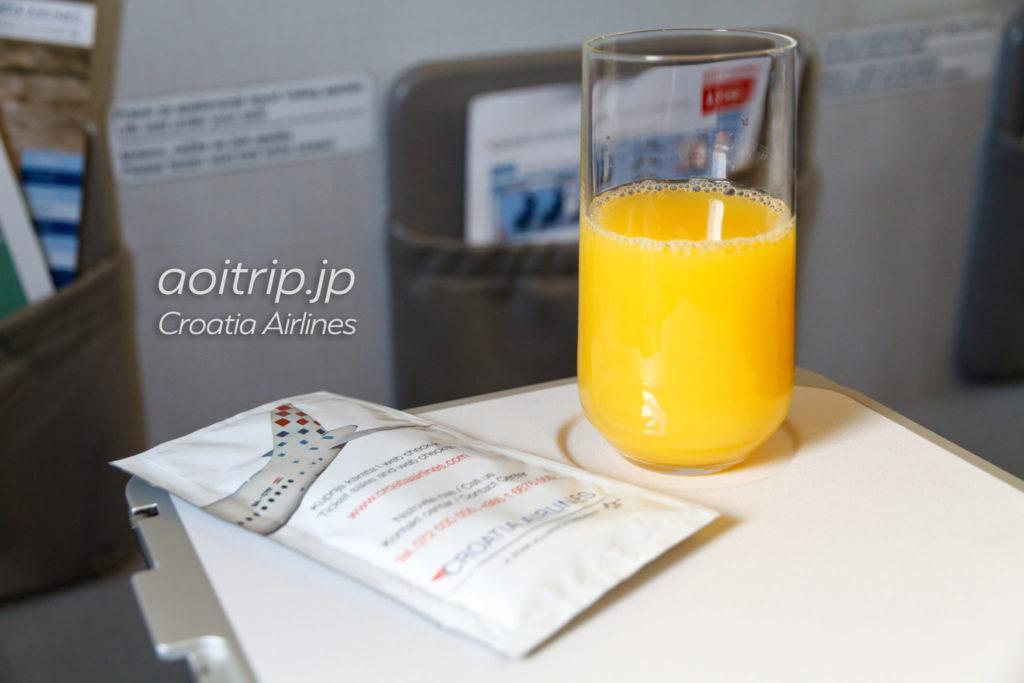 クロアチア航空 ビジネスクラス ウェルカムドリンク