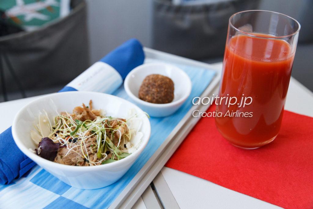 クロアチア航空 ビジネスクラスの軽食(機内食)