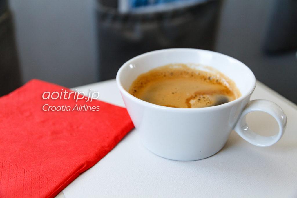 クロアチア航空 ビジネスクラスのコーヒー
