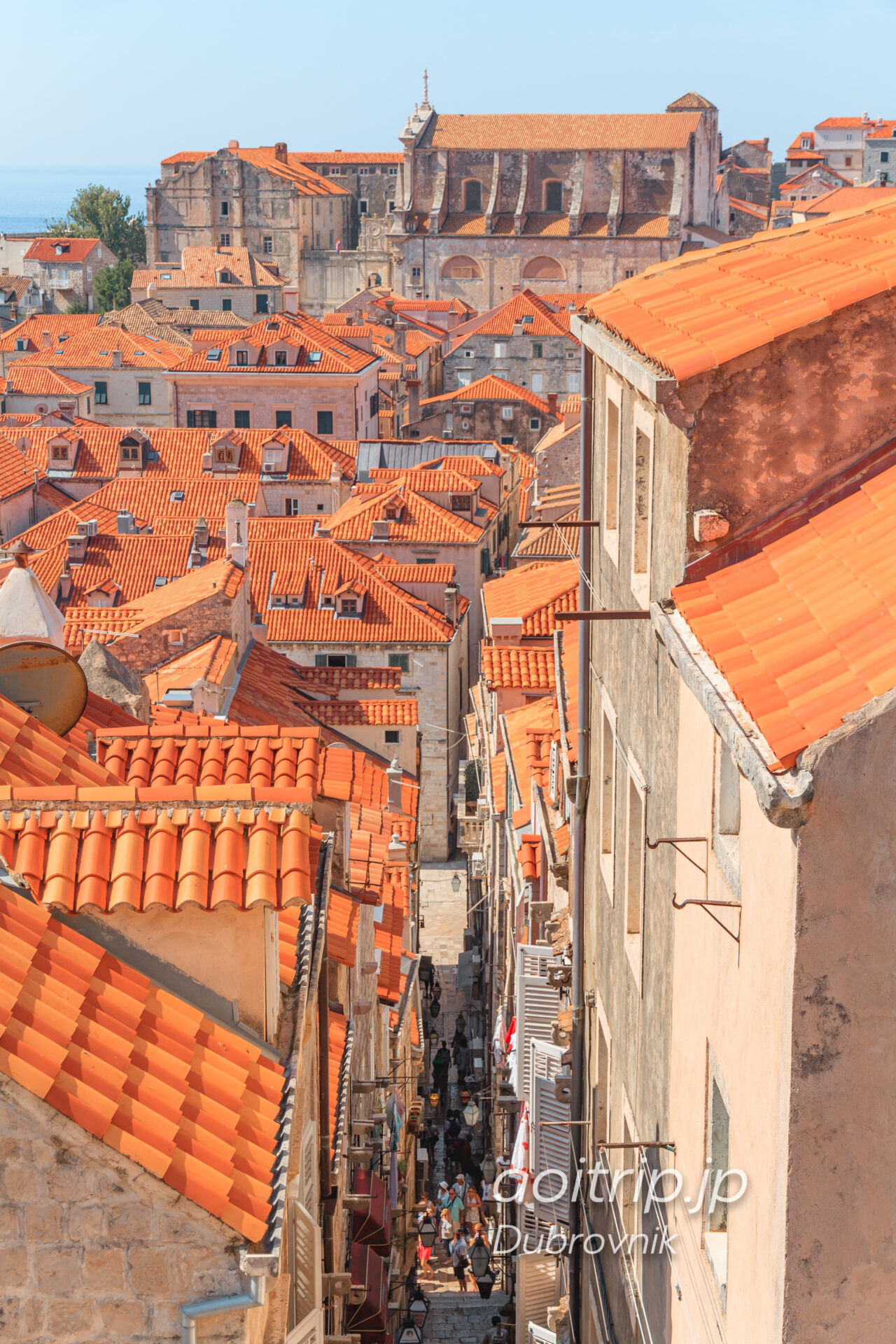 ドゥブロヴニクの城壁 風景写真