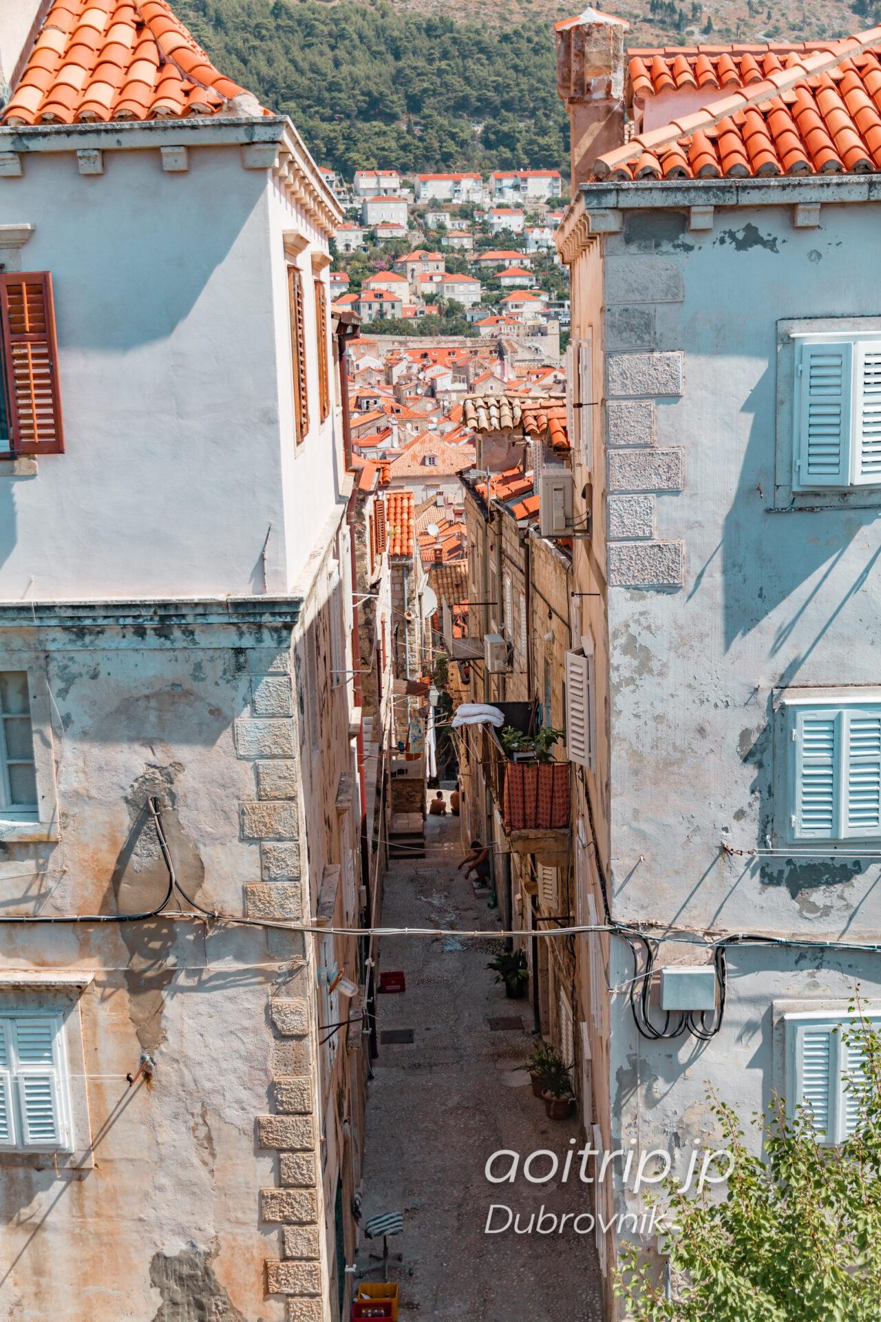 ドブロヴニク 城壁の遊歩道