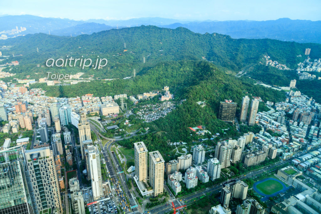 台北101展望台 東側の眺望