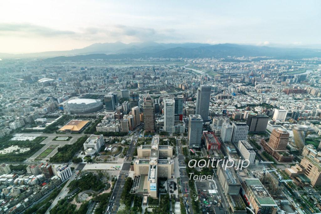 台北101展望台 北側の眺望