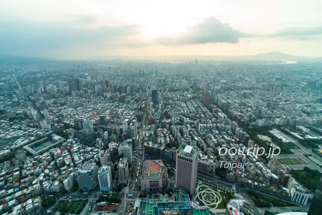 台北101展望台 西側の眺望