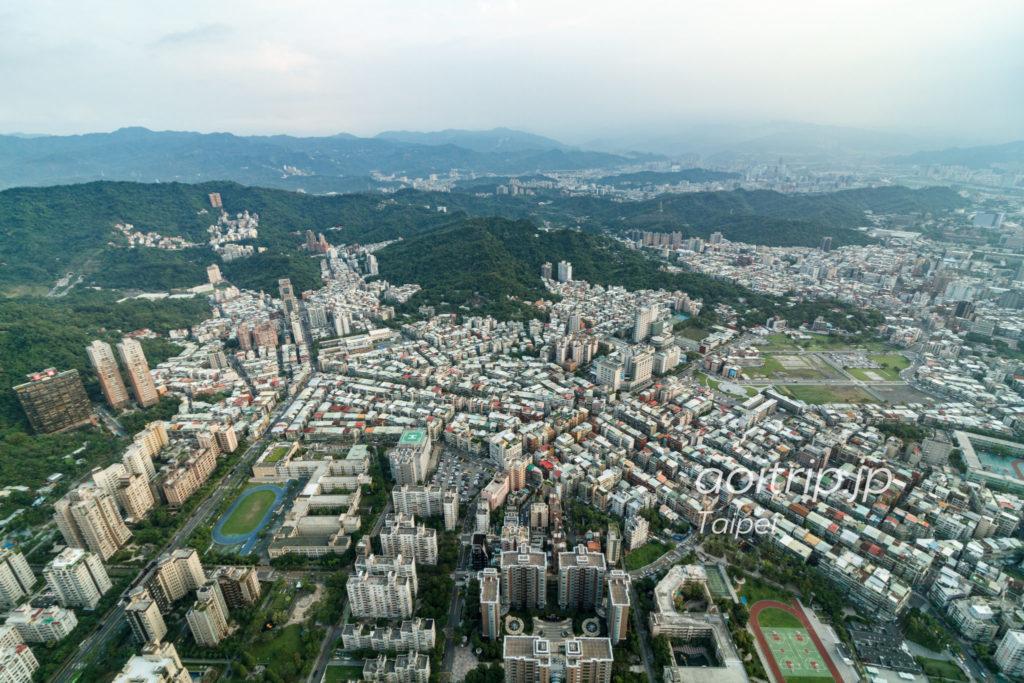 台北101展望台 南側の眺望