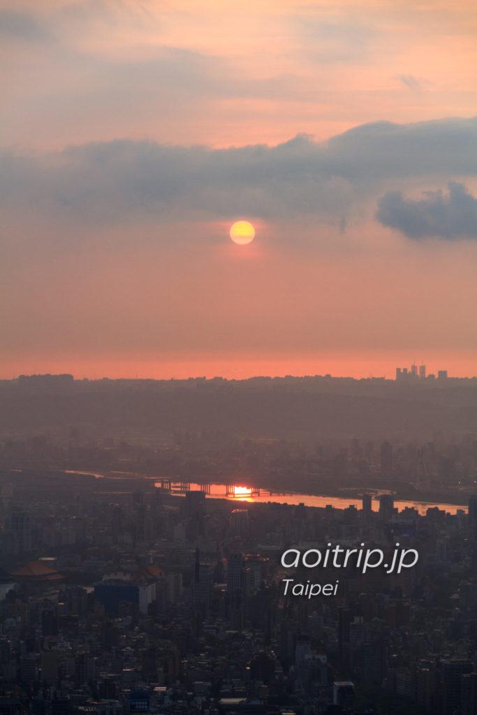 台北101展望台からの夕日