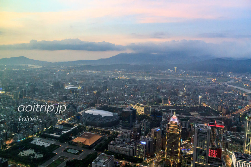 台北101展望台からの眺望
