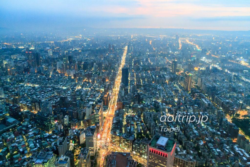台北101展望台からの夜景