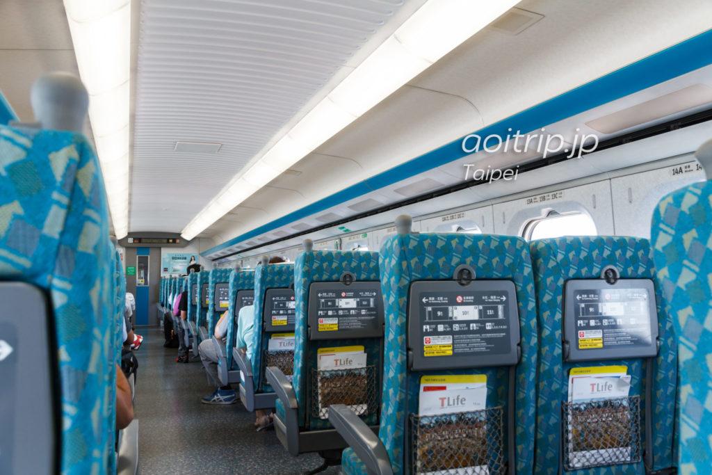 台湾高速鉄道 車内の写真