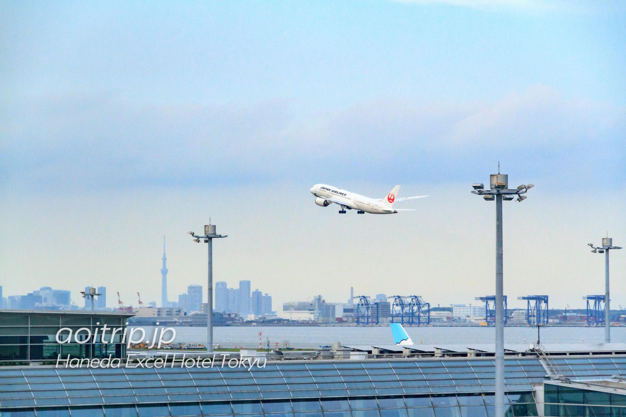 羽田エクセルホテル東急 飛行機・滑走路ビューの眺望