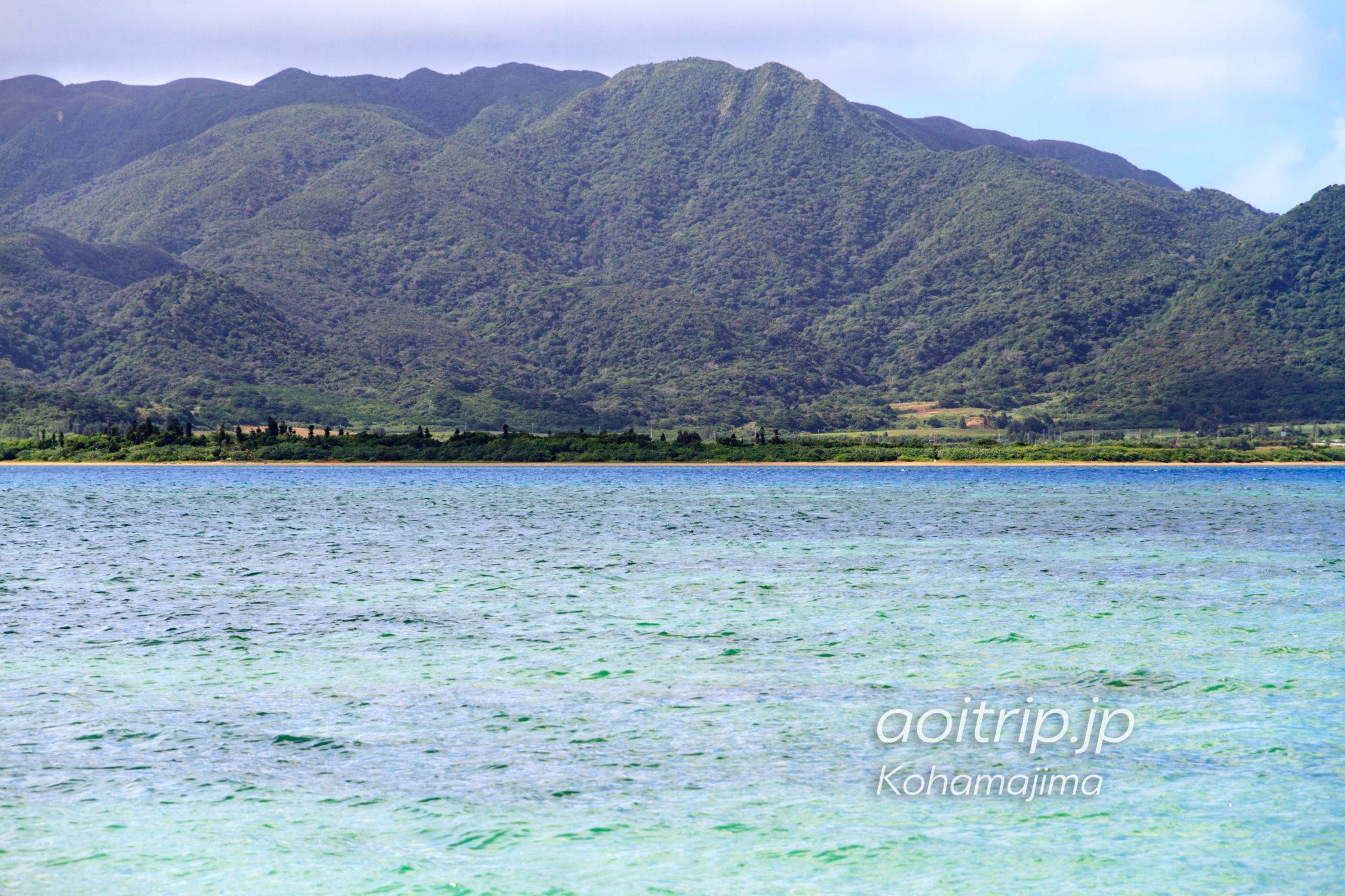 小浜島 細崎ビーチから見る由布島、西表島