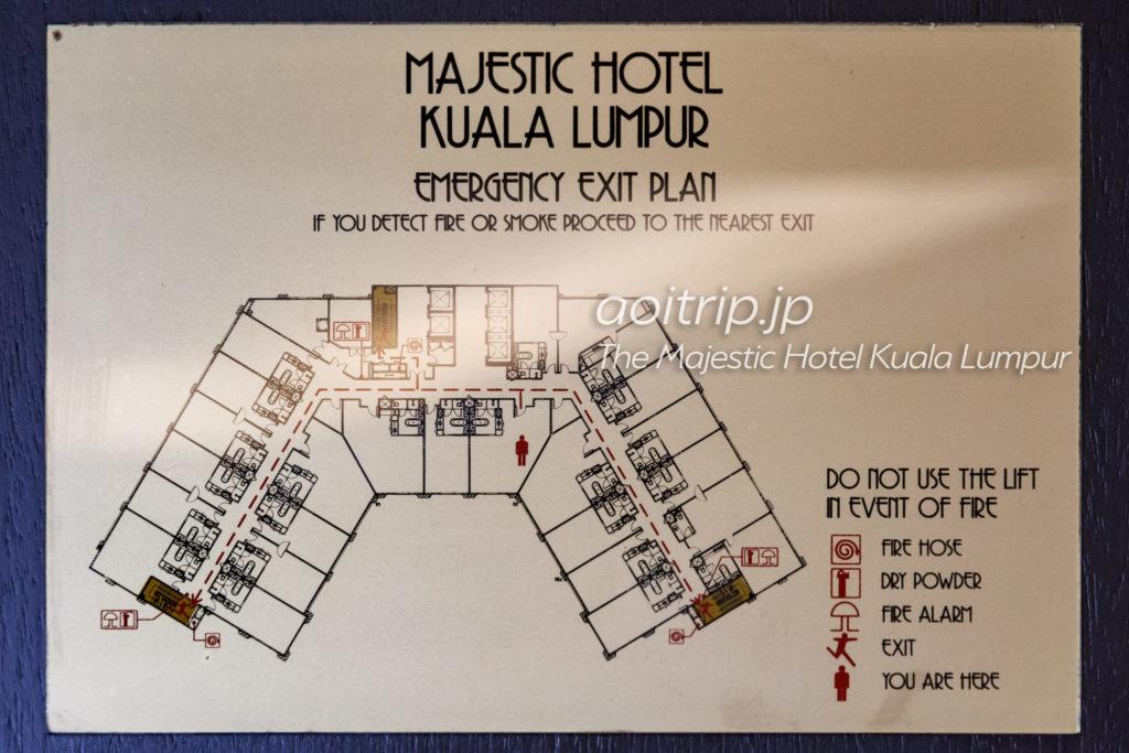 ザマジェスティックホテルクアラルンプール フロアマップ