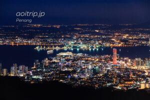 ペナンヒルから見るジョージタウンの夜景