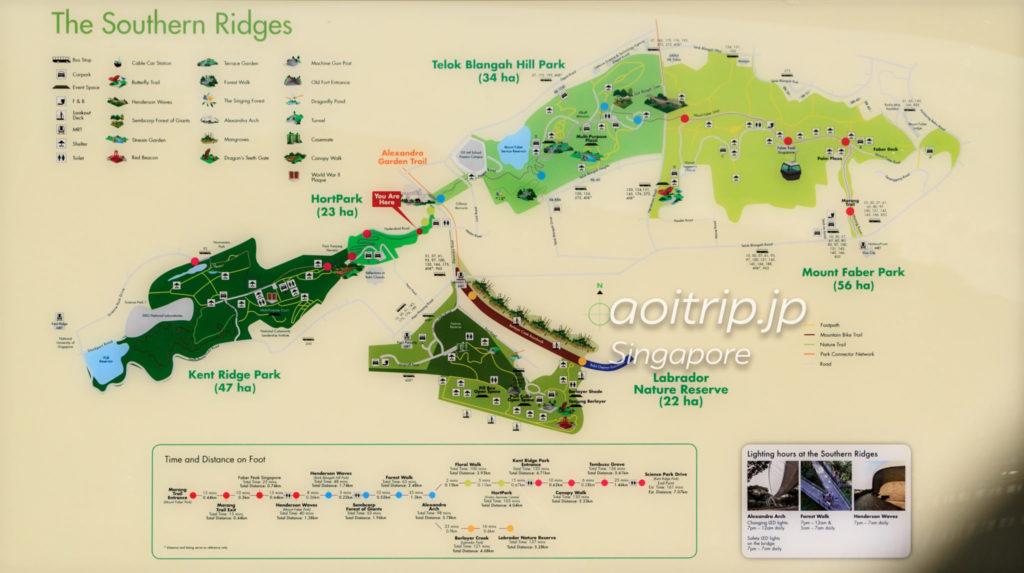 サザンリッジズのマップ