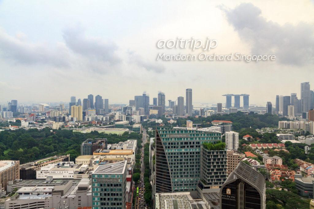 マンダリンオーチャードシンガポール クラブラウンジの眺望