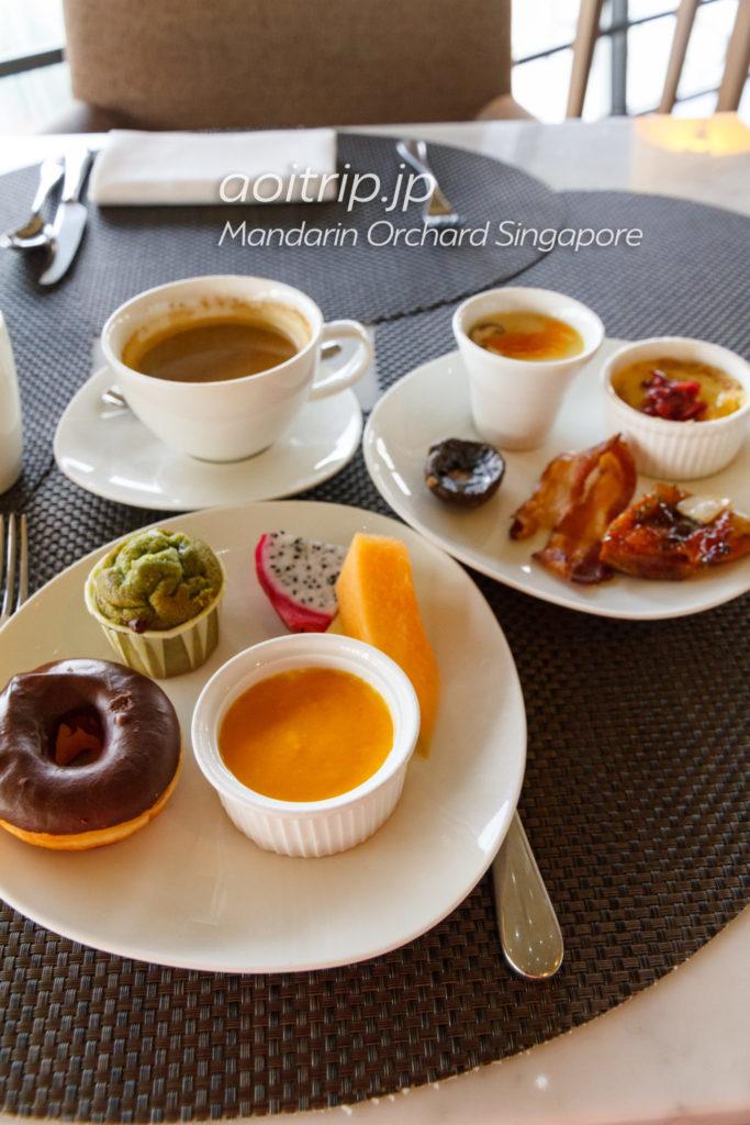 マンダリンオーチャードシンガポール クラブラウンジの朝食