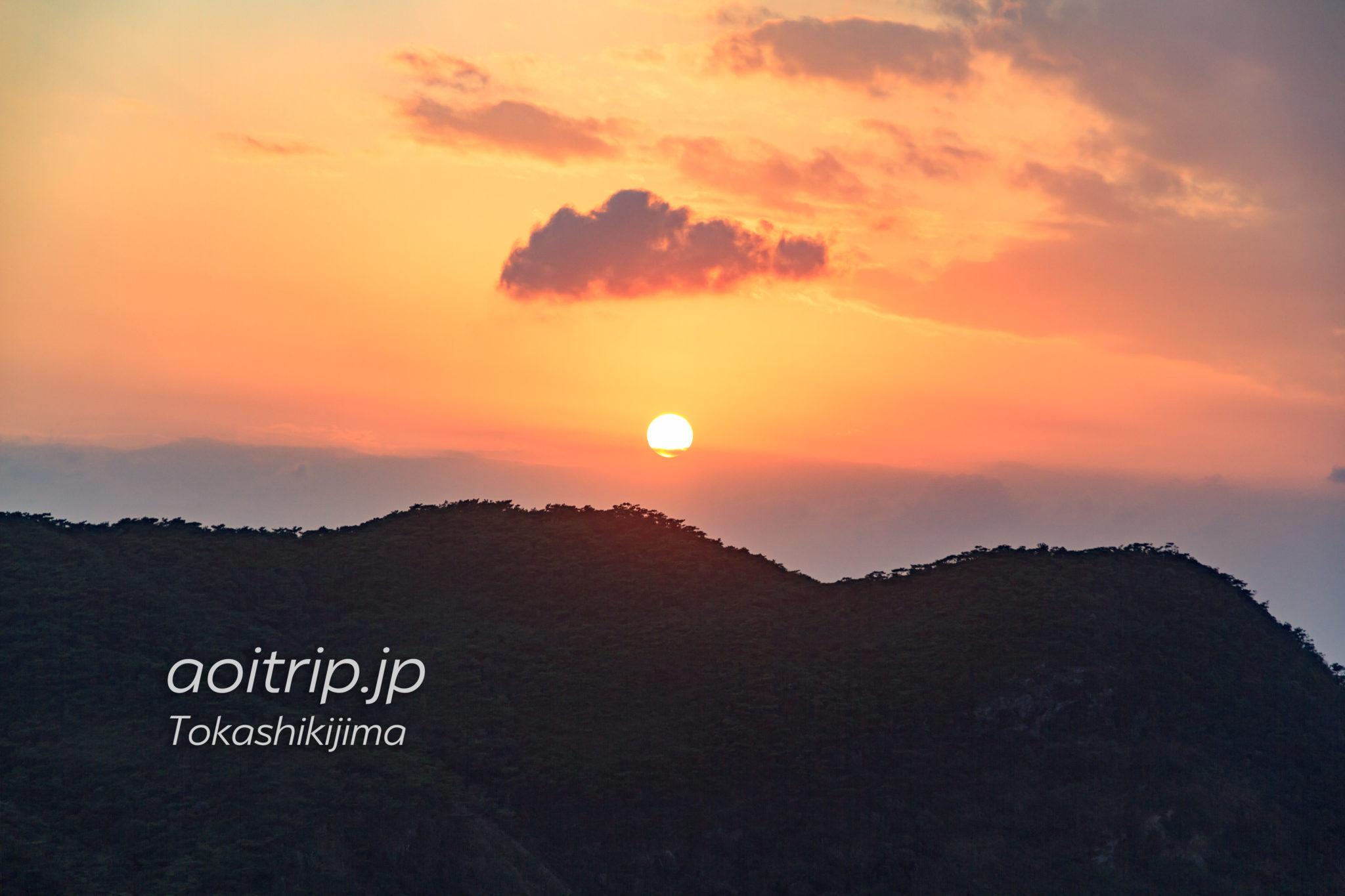 渡嘉敷島の夕日