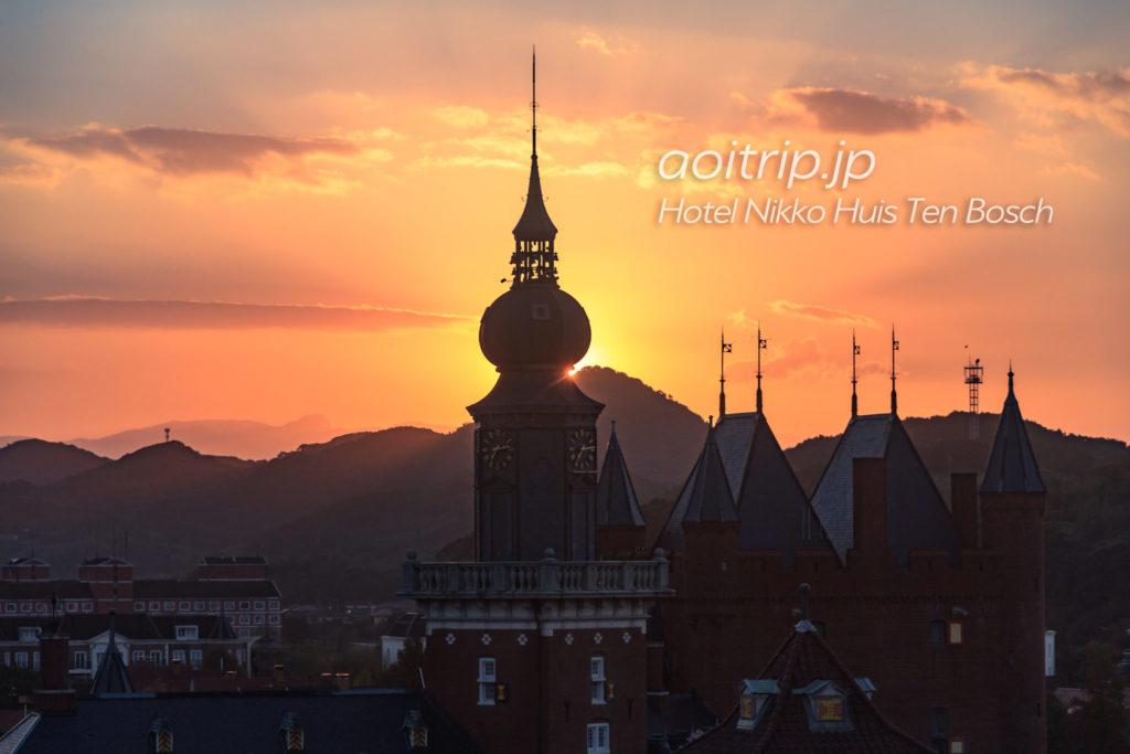 ホテル日航ハウステンボス 客室からの眺望 朝日