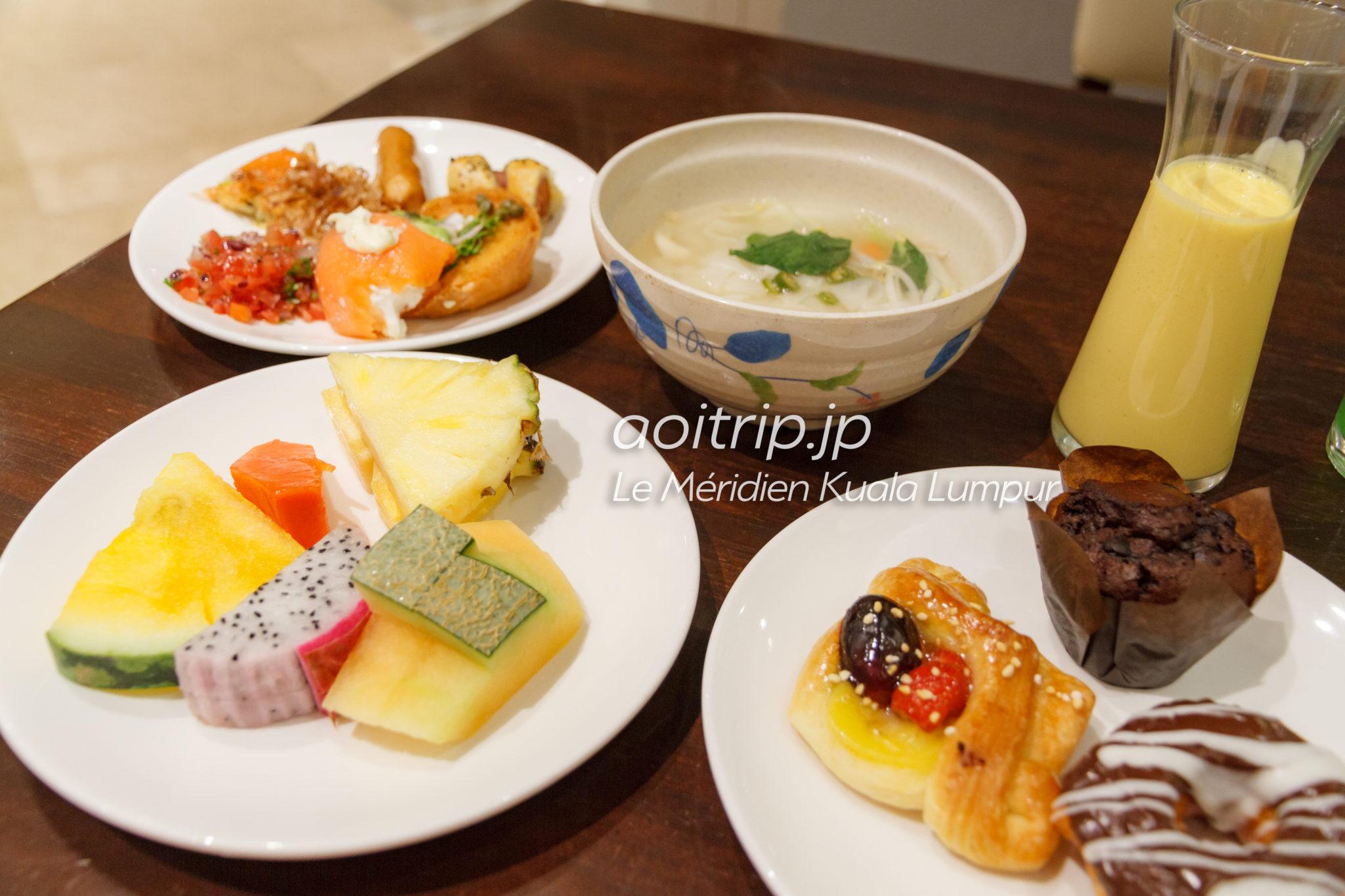 ルロイヤルメリディアンクアラルンプールの朝食