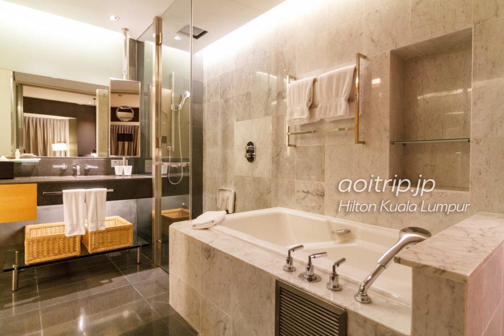 ヒルトンクアラルンプールのバスルーム