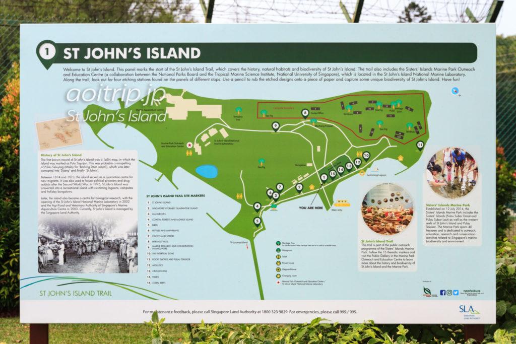 セントジョンズ島のマップ