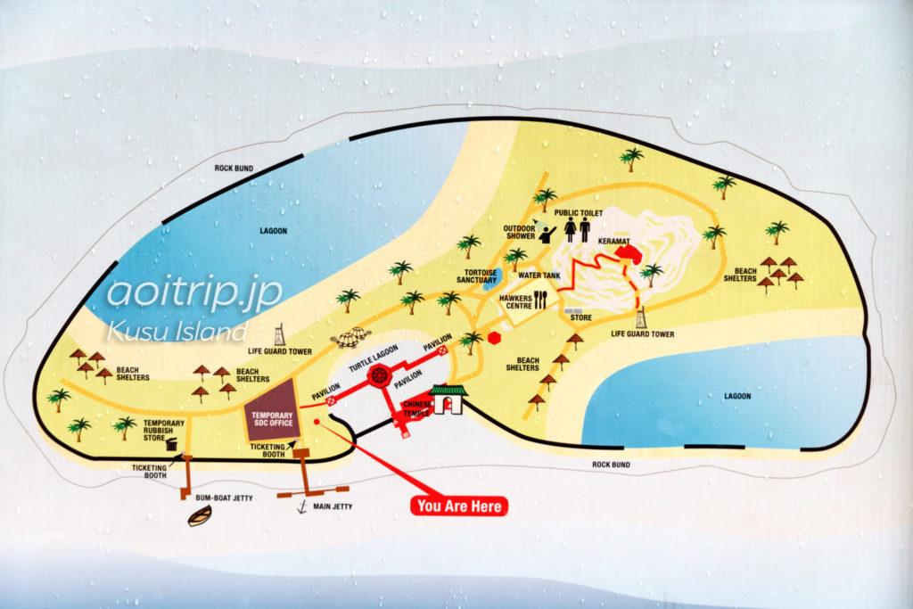 クス島のマップ(Kusu Island's Map)