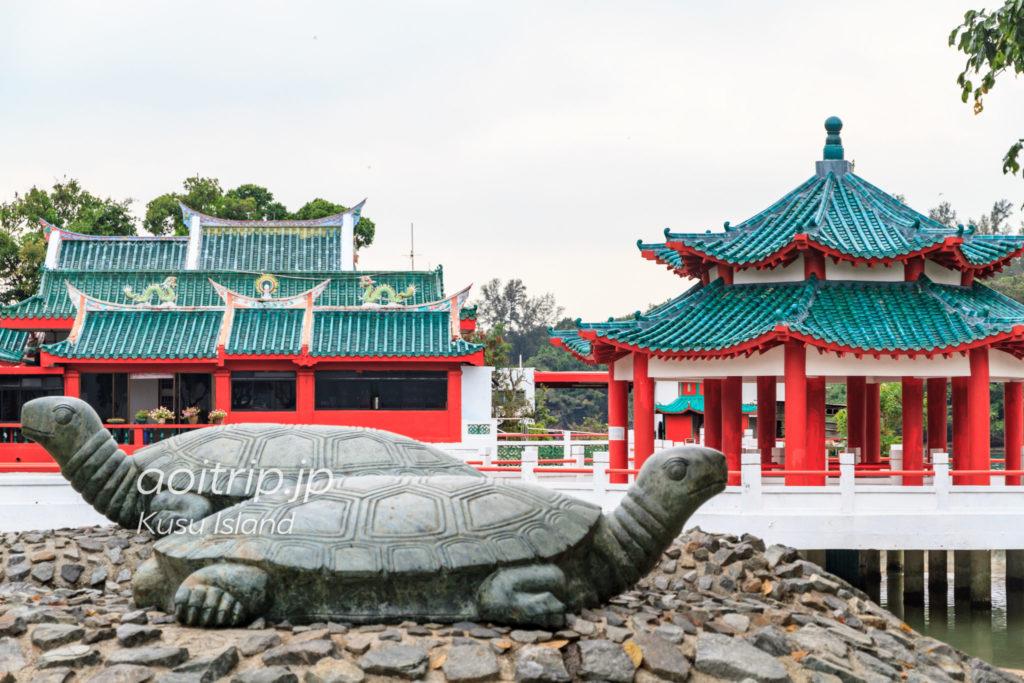 クス島の中国寺院