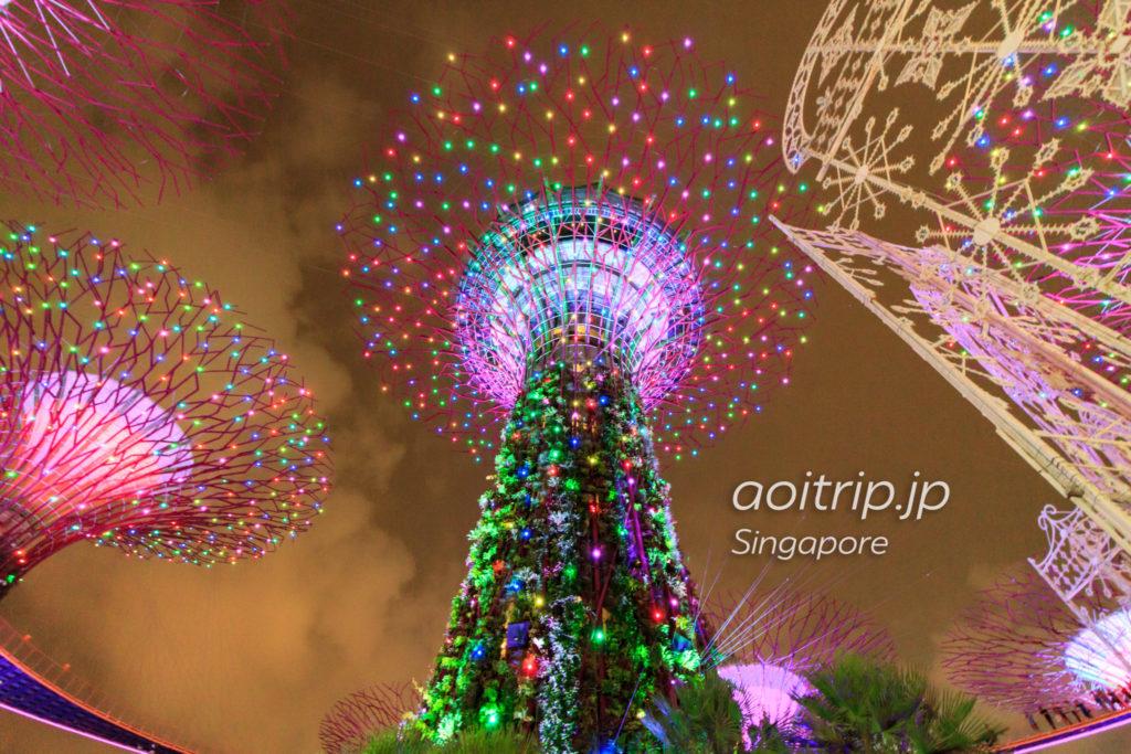 OCBCガーデンラプソディのクリスマスバージョン