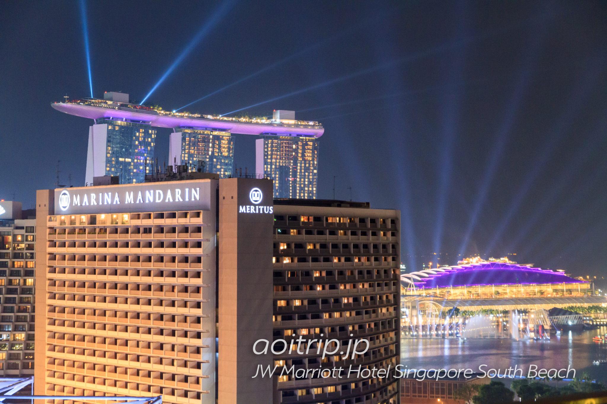 JWマリオットシンガポールサウスビーチ18Fから望むスペクトラ