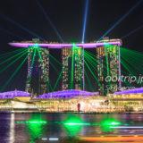 シンガポール・マリーナベイサンズのスペクトラ(レーザーショー)