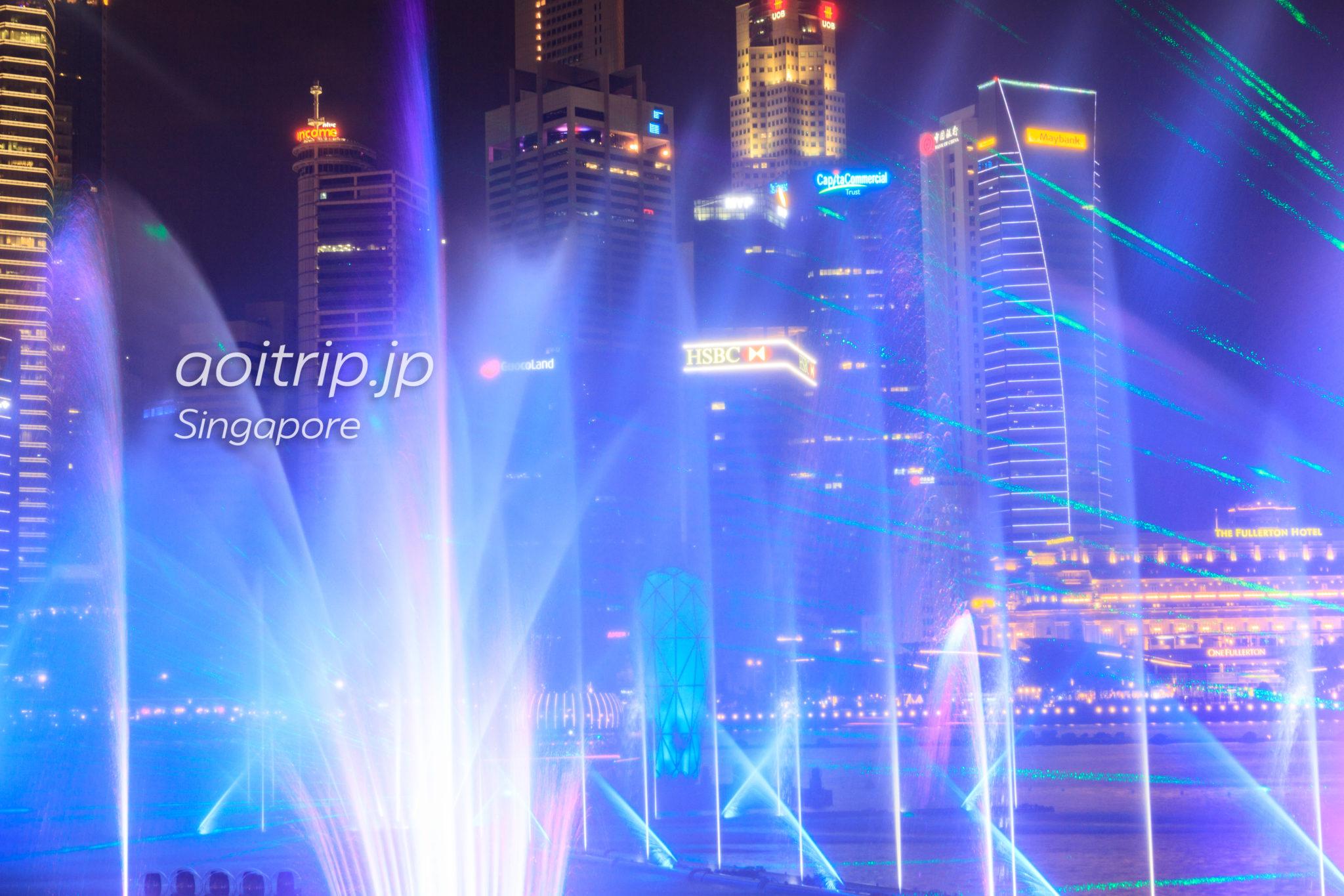 SPECTRA(スペクトラ) マリーナベイの「光と水のシンフォニー噴水ショー」