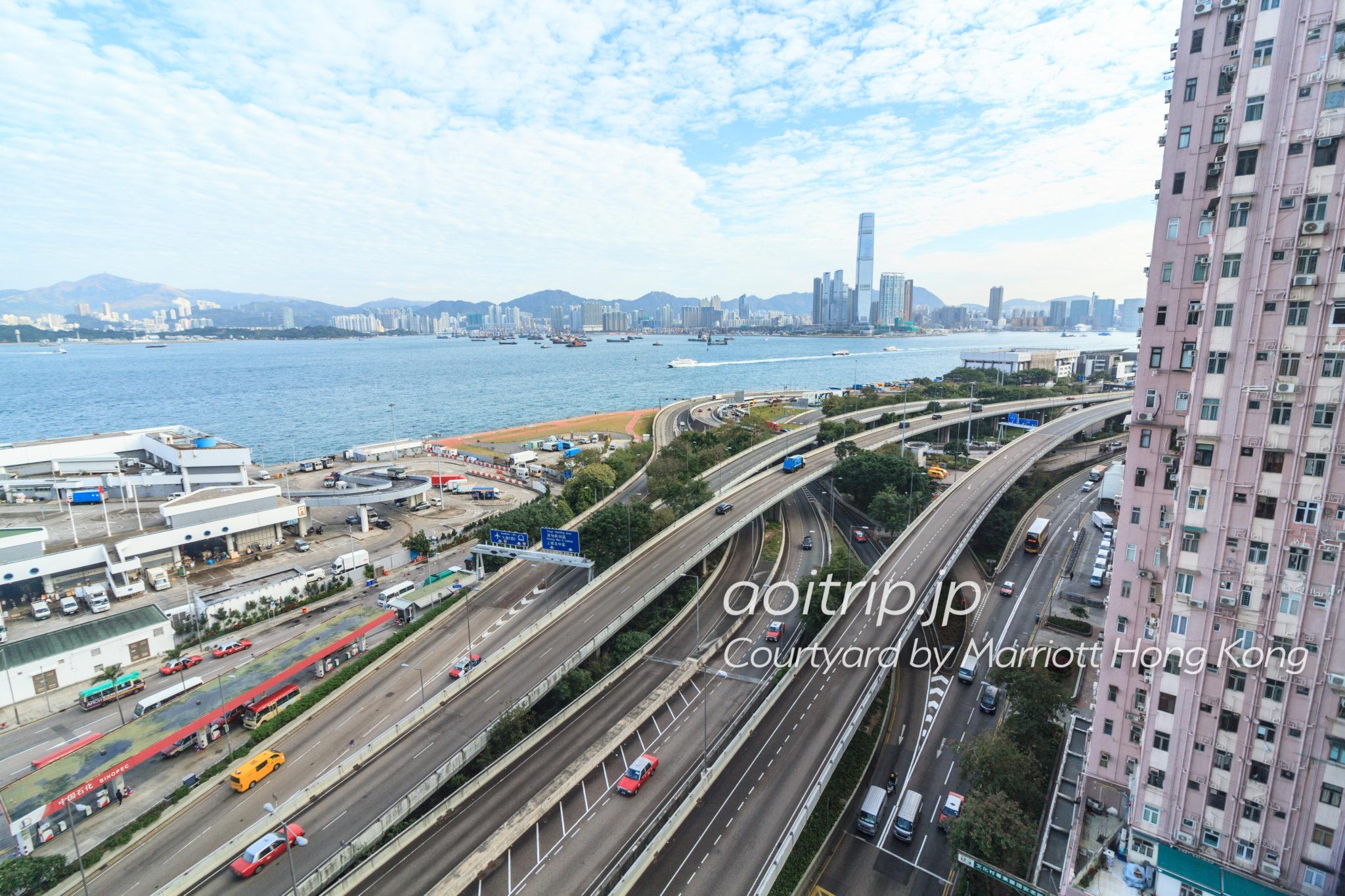 コートヤードバイマリオット香港のお部屋からの眺望