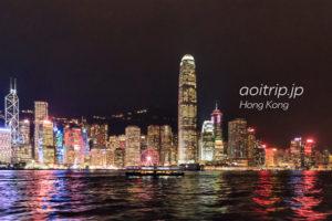 スターフェリーからの香港の夜景