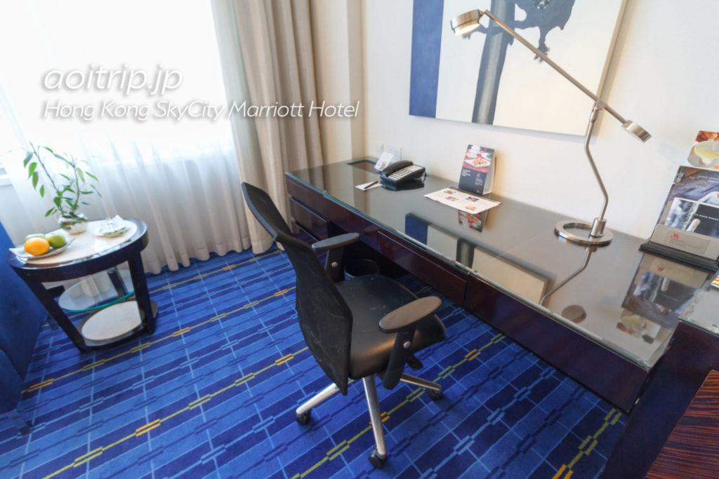 香港スカイシティマリオットホテルのエグゼクティブオーシャンビュールーム