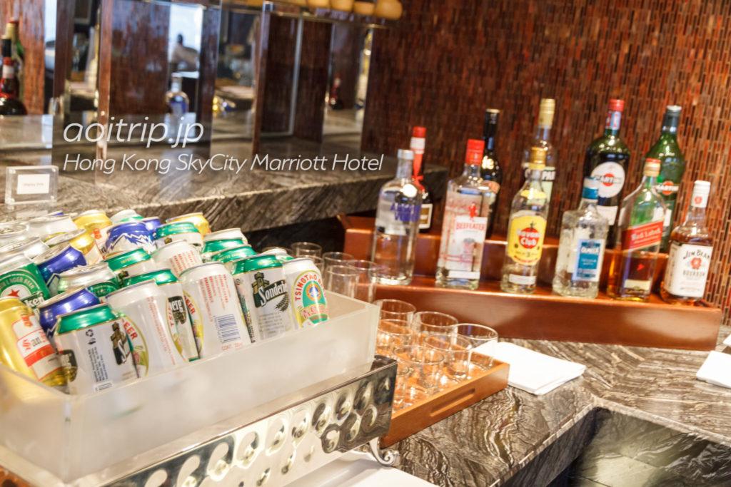 香港スカイシティマリオットホテルのイブニングカクテル