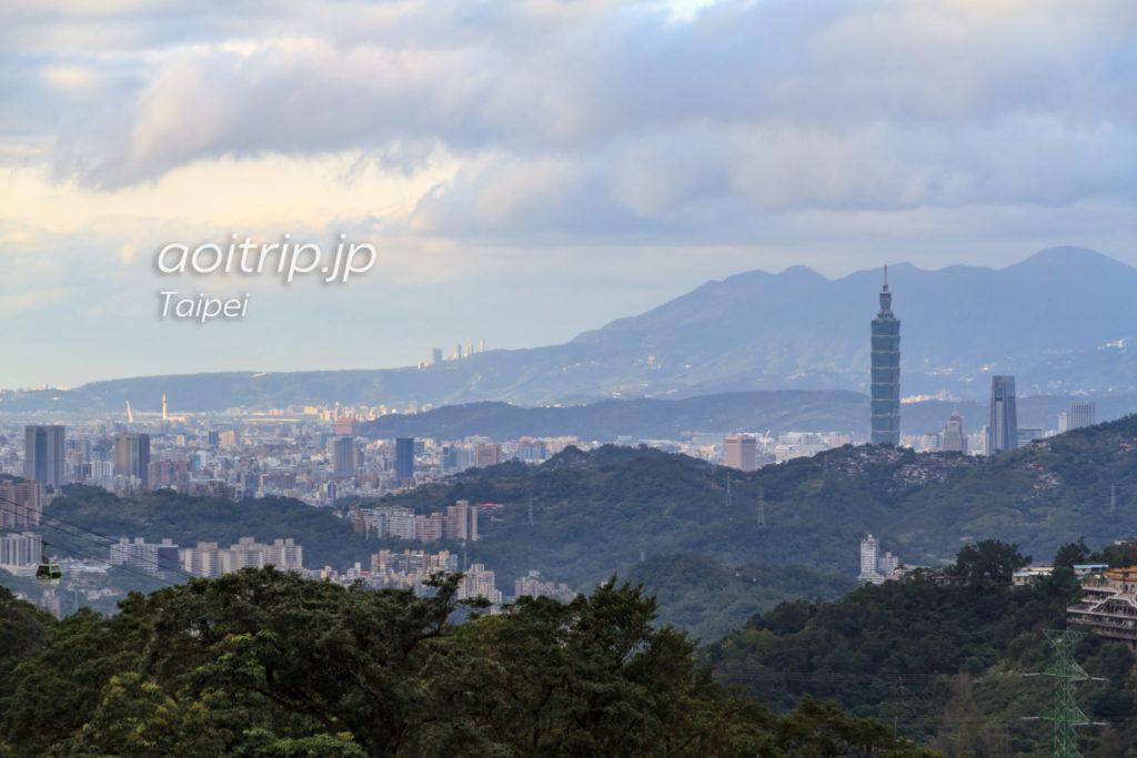 猫空からの台北の街並み