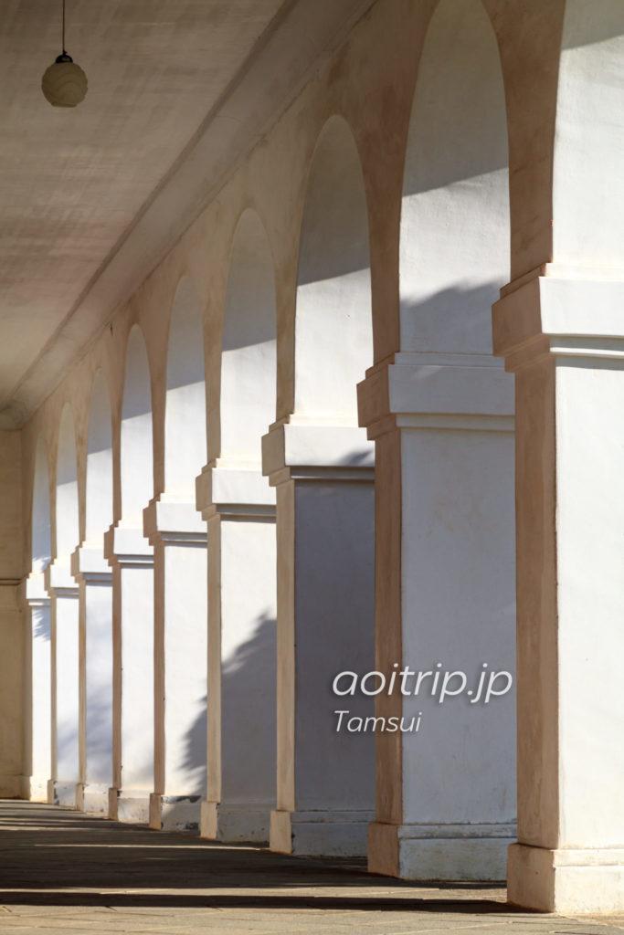 淡水の小白宮 アーチ型の回廊