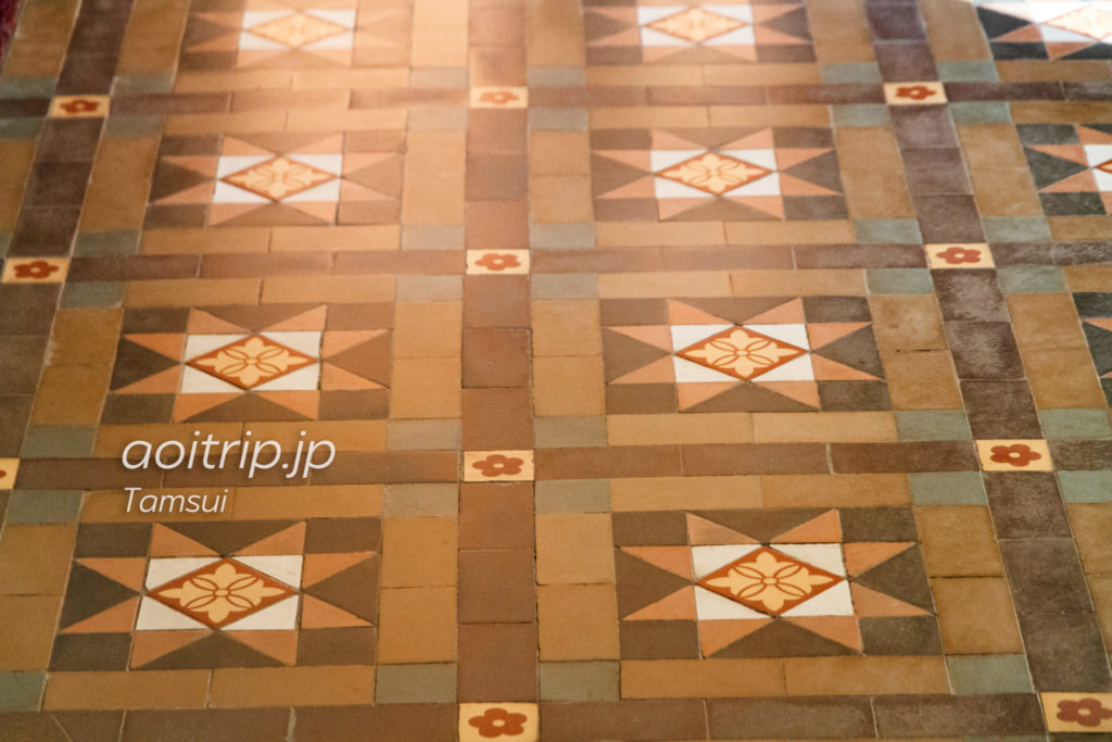 淡水の旧英国領事館の床タイル