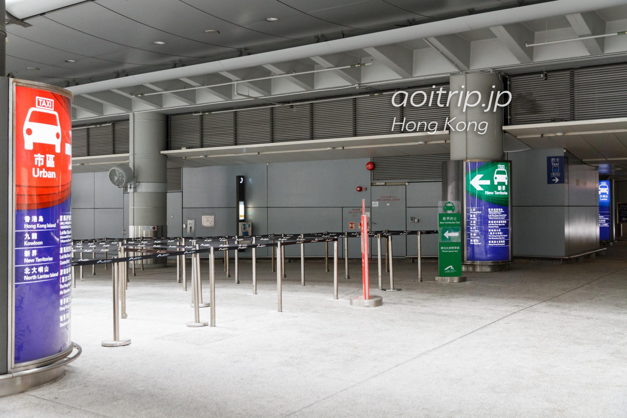 香港国際空港のタクシー乗り場