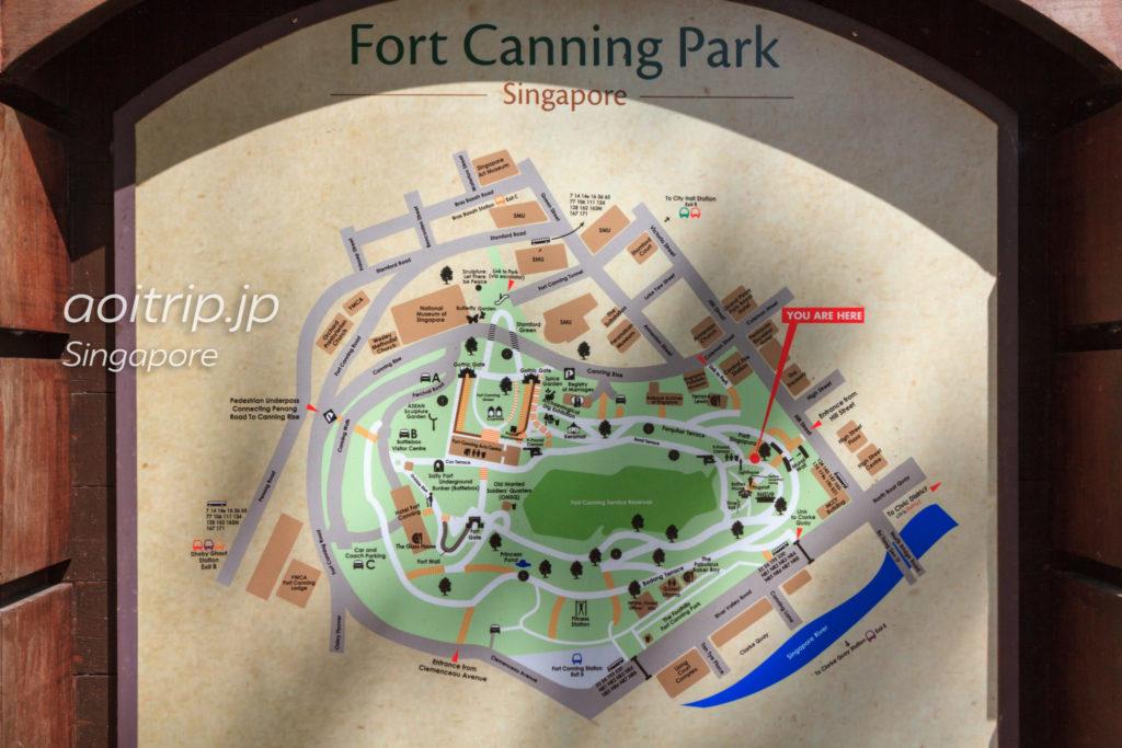 フォートカニングパークの地図
